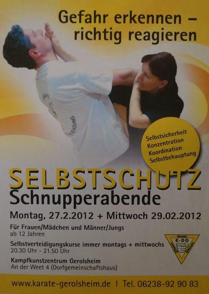 2012-02-27 Selbstschutz - Schnupperabende - Vorderseite