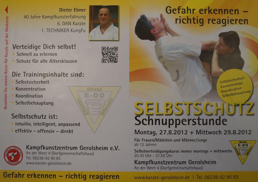 2012-08-27 Schnupperstunde Selbstschutz
